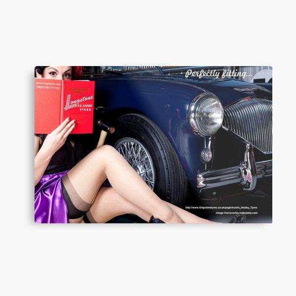 Healey Girl - Longstone Tyres Metal Print