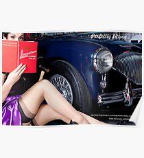 Healey Girl - Longstone Tyres Poster