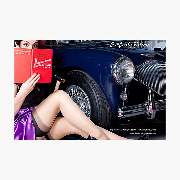 Healey Girl - Longstone Tyres Photographic Print