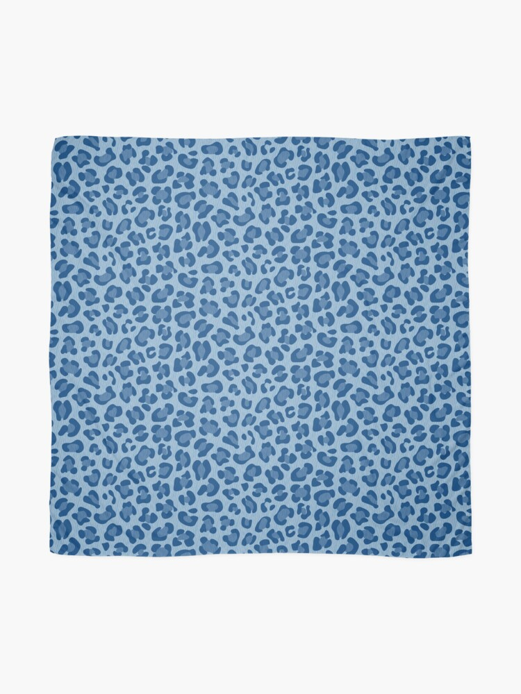 Alternate view of Leopard Print - Classic Blue Scarf