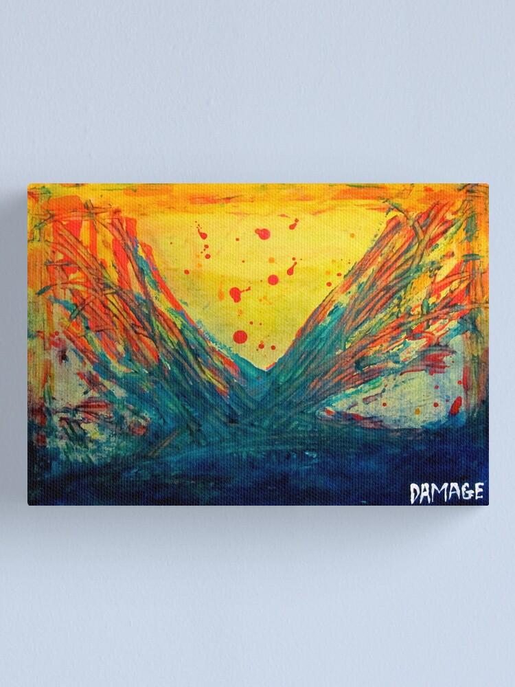 Alternate view of Volcanic Splash Canvas Print