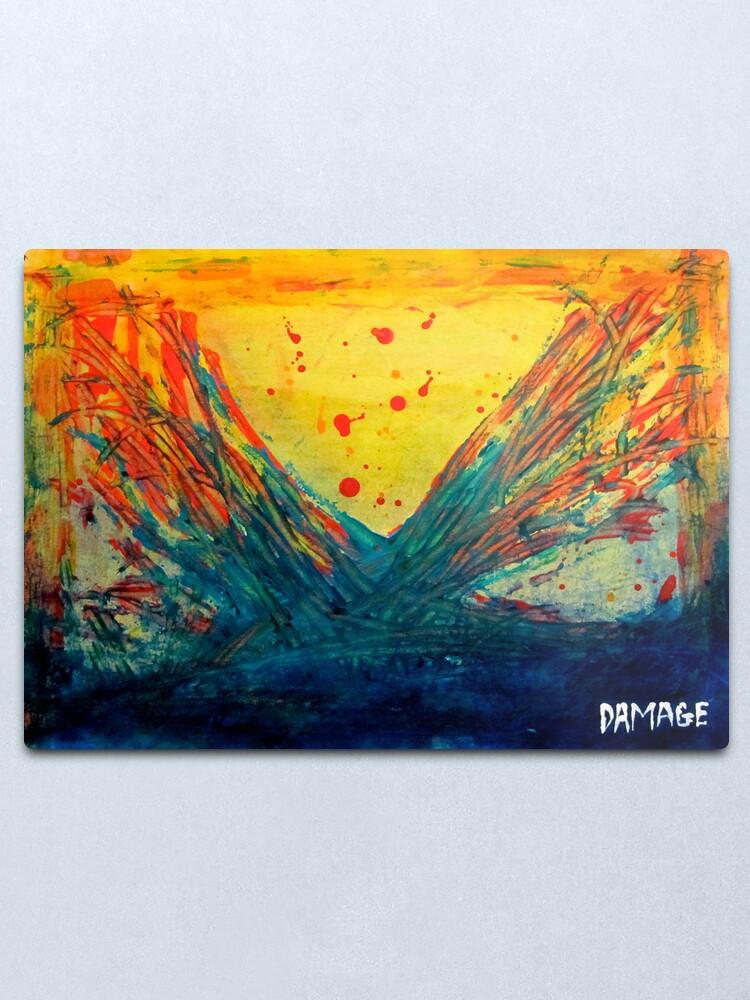 Alternate view of Volcanic Splash Metal Print