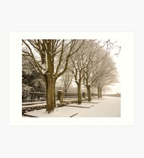 Virgin Snow In The Maiden City Art Print