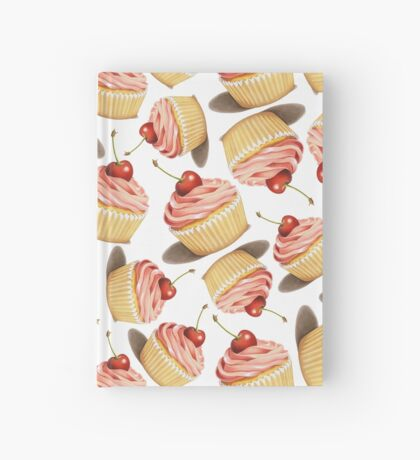 Pink Cupcakes Twirling Hardcover Journal