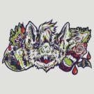 Vampire Bat - Green&Red by Madison Cowles Serna