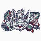 Vampire Bat - Blue&Red by Madison Cowles Serna
