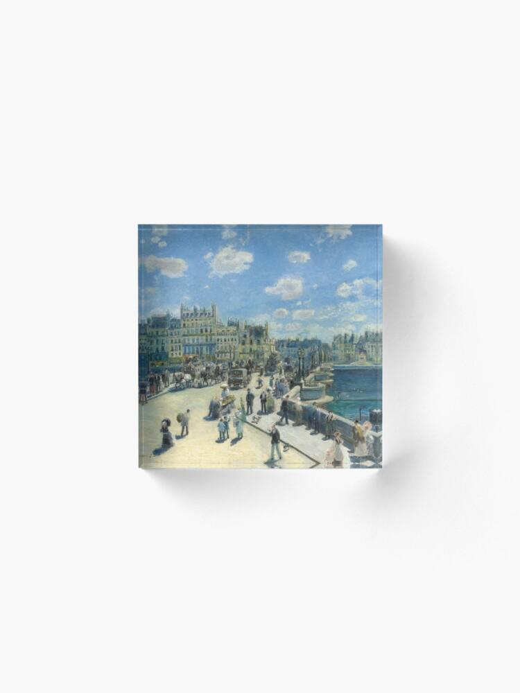 Alternate view of Pont Neuf Paris Painting by Auguste Renoir Acrylic Block