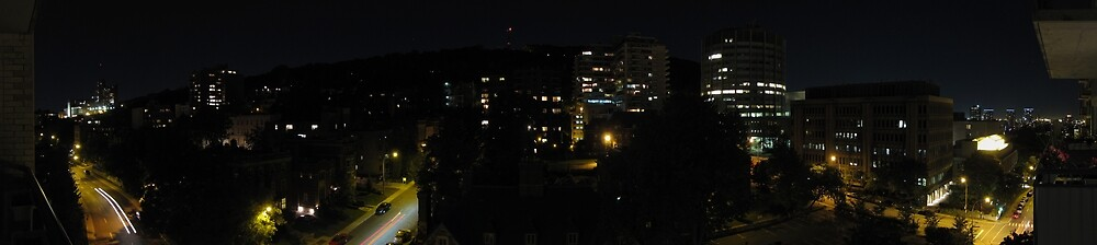 Mount Royal night panorama by AndreCosto