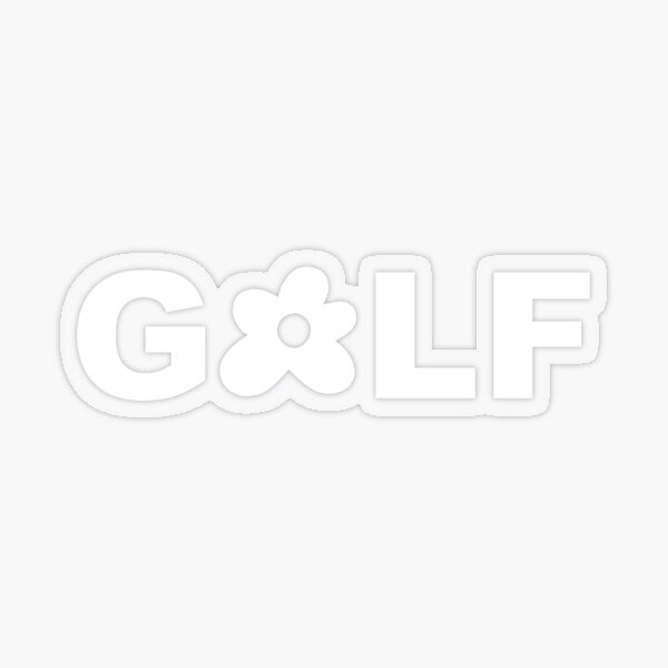 White Golf Le Fleur Logo Transparent Sticker