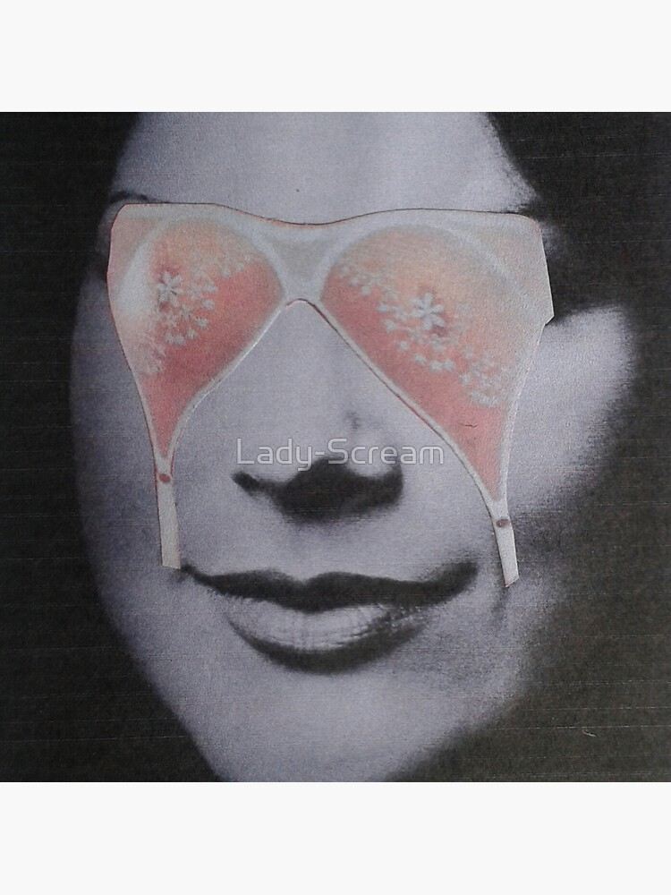 My Eyes Are Up Here... Vintage Beauty Magazine Collage by Lady-Scream