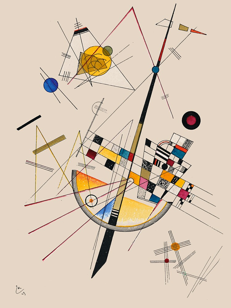 Kandinsky Delicate Tension No. 85, 1923 Artwork Reproduction, Design for Posters, Prints, Tshirts, Men, Women, Kids, Youth by clothorama