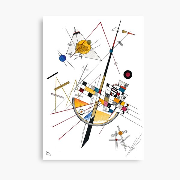 Kandinsky Delicate Tension No. 85, 1923 Artwork Reproduction, Design for Posters, Prints, Tshirts, Men, Women, Kids, Youth Canvas Print