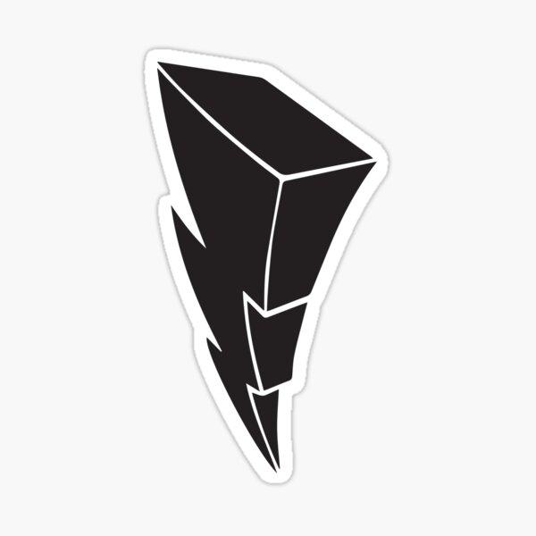 Power Bolt- black decal Sticker