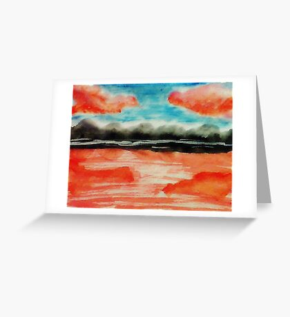 Is this a mirage?  watercolor Greeting Card