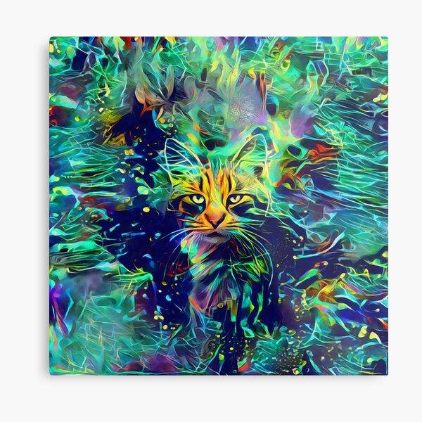 Deep Style Cat Metal Print