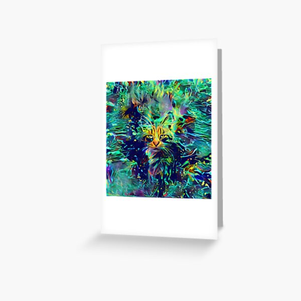 Deep Style Cat Greeting Card