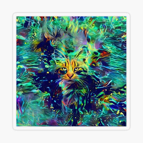 Deep Style Cat Transparent Sticker