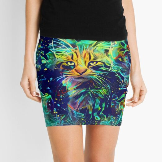 Deep Style Cat Mini Skirt