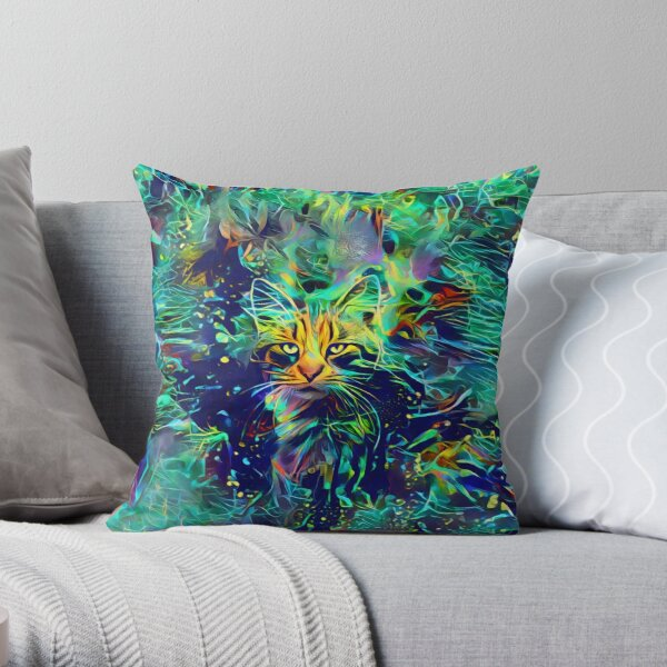 Deep Style Cat Throw Pillow