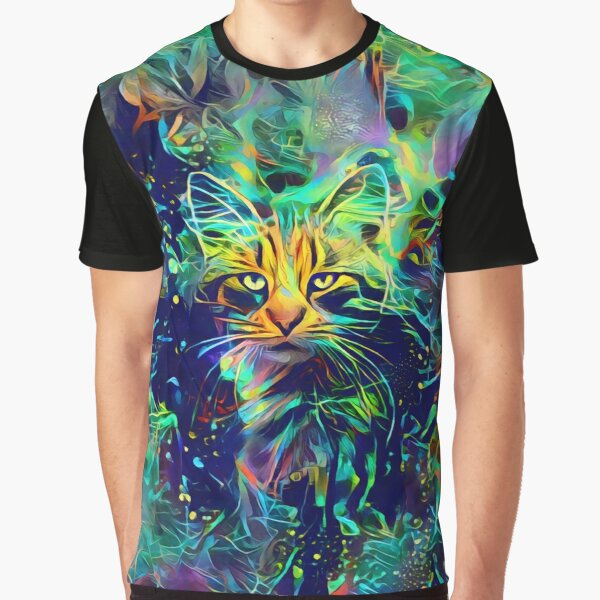 Deep Style Cat Graphic T-Shirt