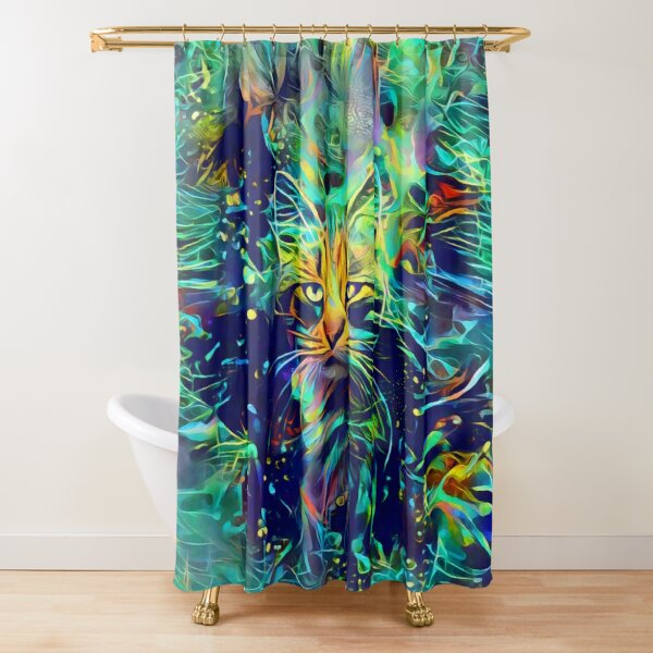 Deep Style Cat Shower Curtain