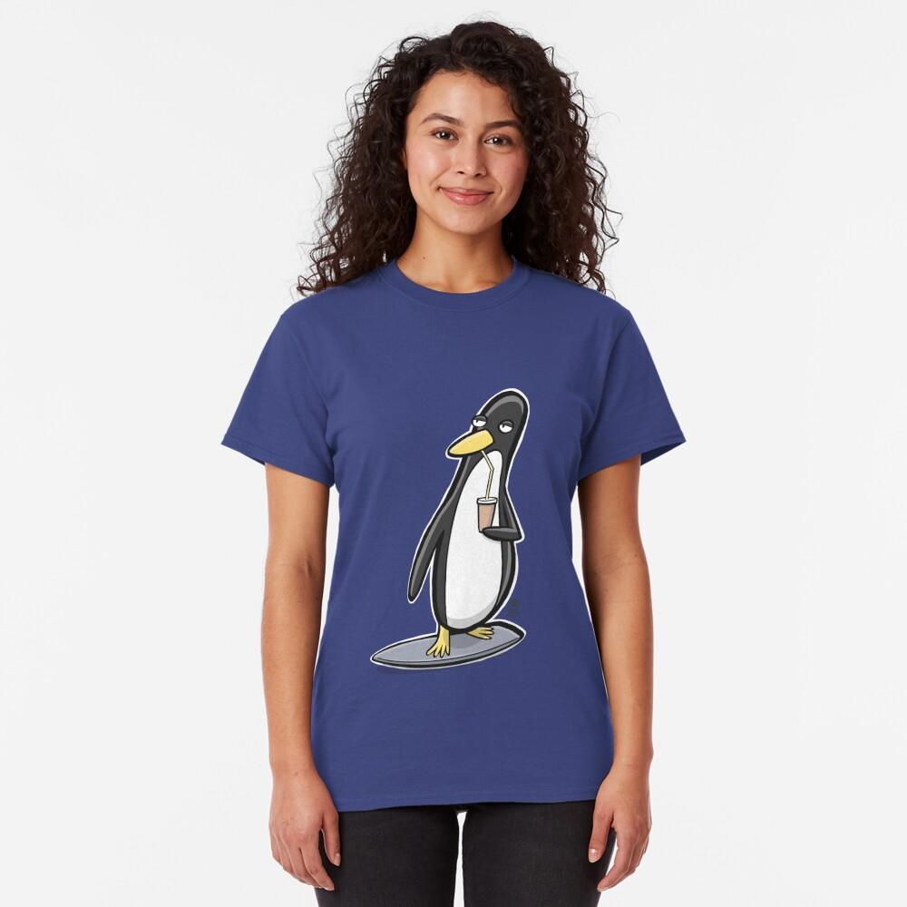 Linux Surf Penguin Classic T-Shirt