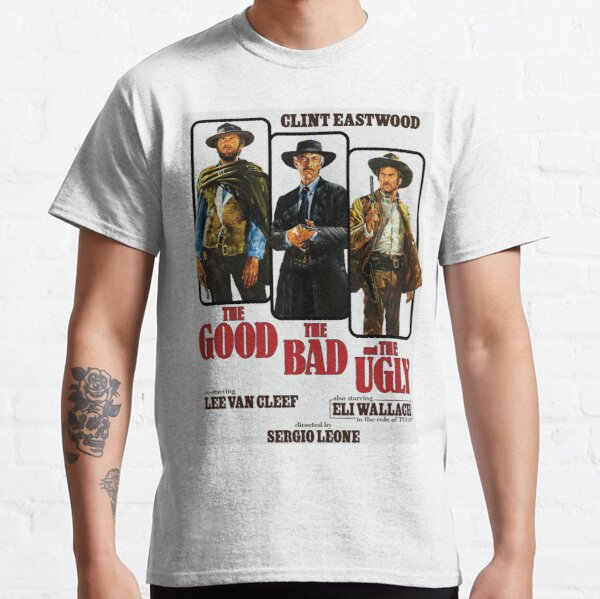 The Good The Bad and The Ugly 1966 Movie Poster Art Classic T-Shirt
