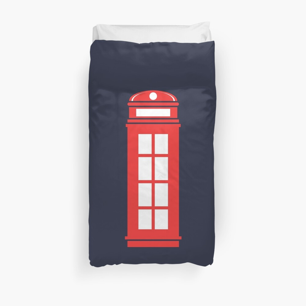 Telephone booth Duvet Cover
