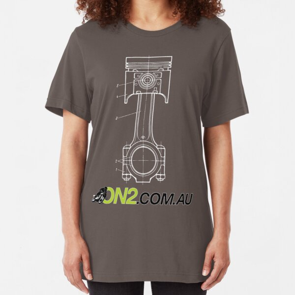 On2 - Piston Goes Bang Slim Fit T-Shirt