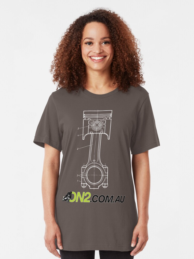 Alternate view of On2 - Piston Goes Bang Slim Fit T-Shirt