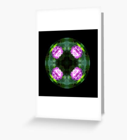 Pink Hydrangea Kaleido Greeting Card
