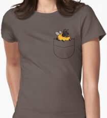 dunble bee shirt pocket design Women's Fitted T-Shirt