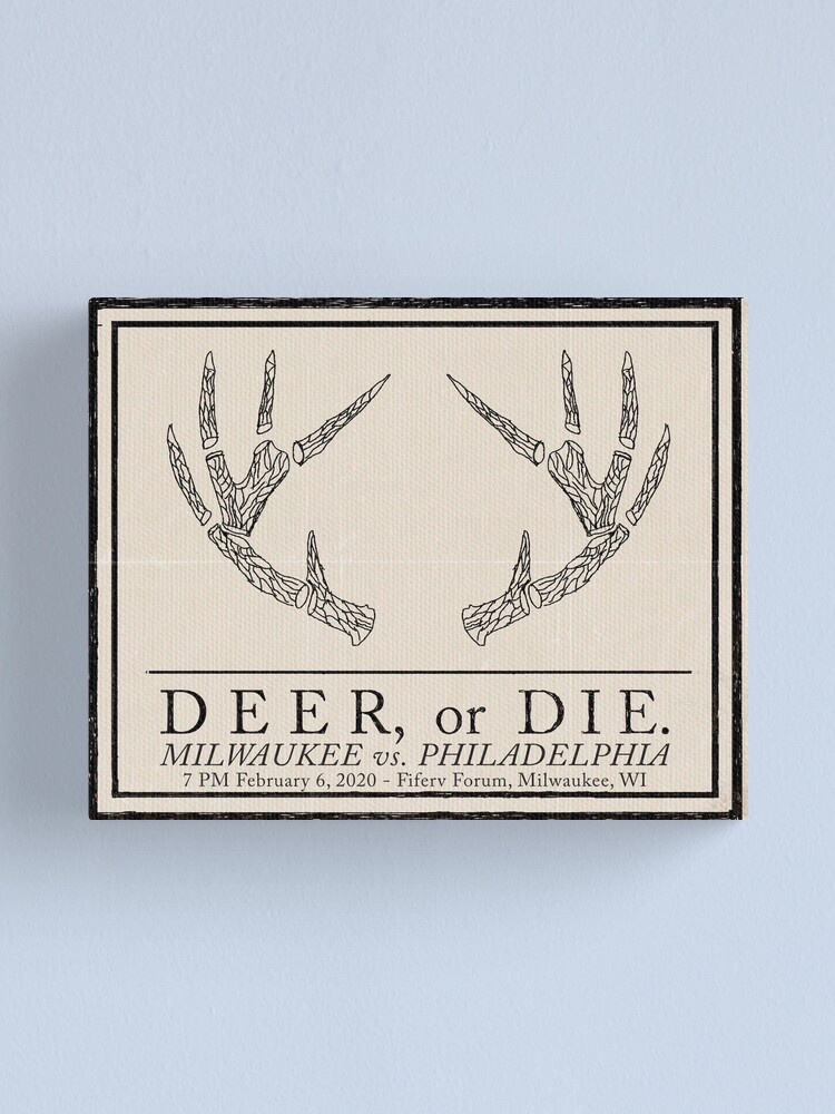 "Alternate view of ""Deer, or Die."" Canvas Print"
