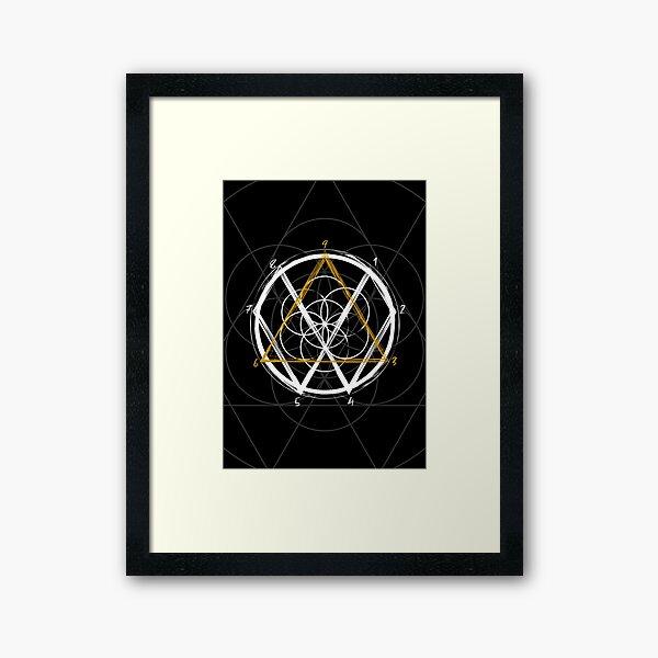 Tesla Code 369 Framed Art Print