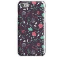 Fantasy flowers pattern iPhone Case/Skin