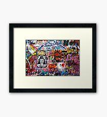 Lennonova Zed (Lennon Wall) Framed Print