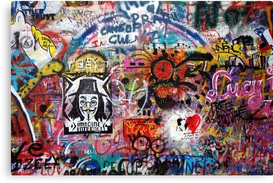 Lennonova Zed (Lennon Wall) by Manuel Gonçalves