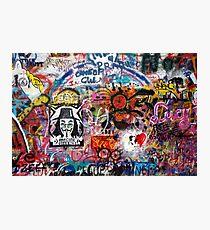 Lennonova Zed (Lennon Wall) Photographic Print