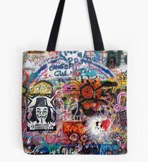 Lennonova Zed (Lennon Wall) Tote Bag