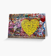 Jonnanova Zed (Jonh Lennon's wall) Greeting Card
