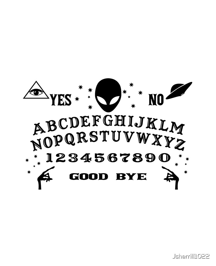 Halloween 32 glossy Ouija stickers cut ready to use