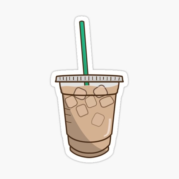 iced coffee doodle Sticker