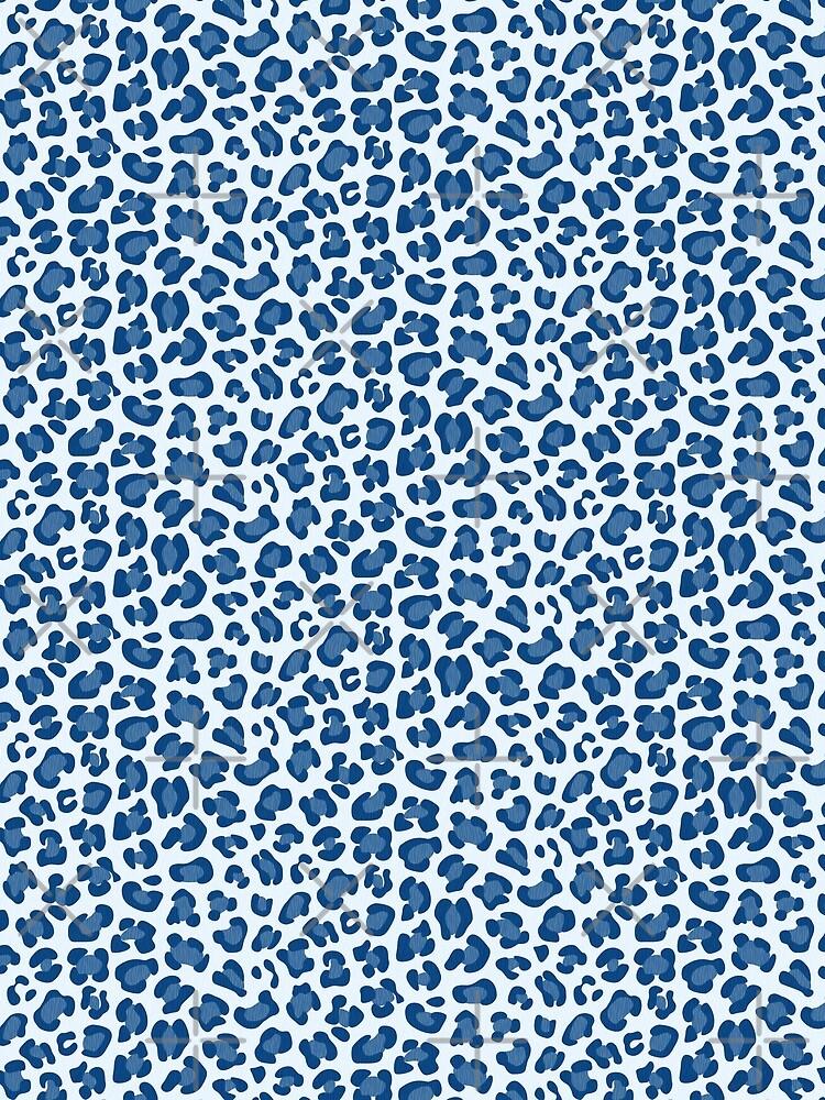 Leopard Print - Classic Blue - Light by miavaldez