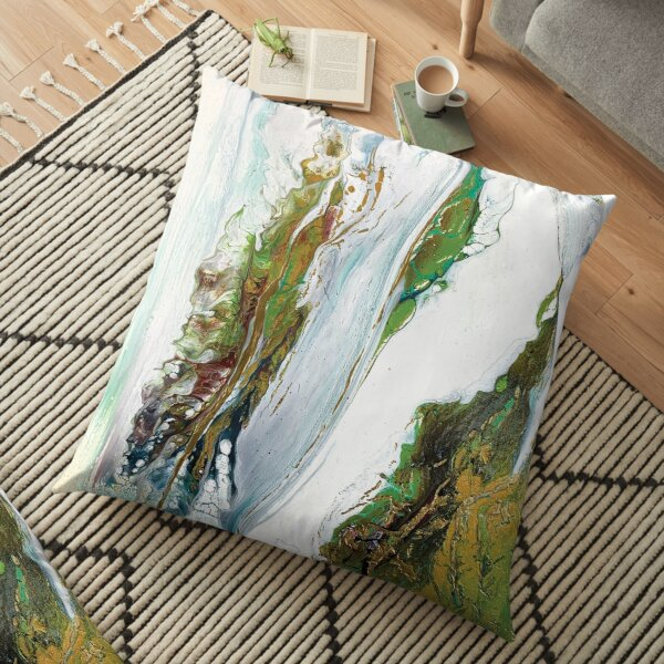 Abstract Copper 3 Floor Pillow