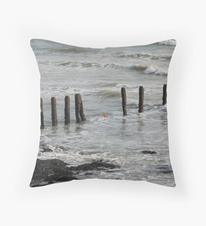 the red ball Throw Pillow