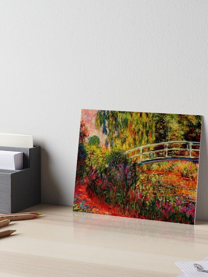 Claude Monet Bridge In Monet S Garden The Japanese Bridge Art