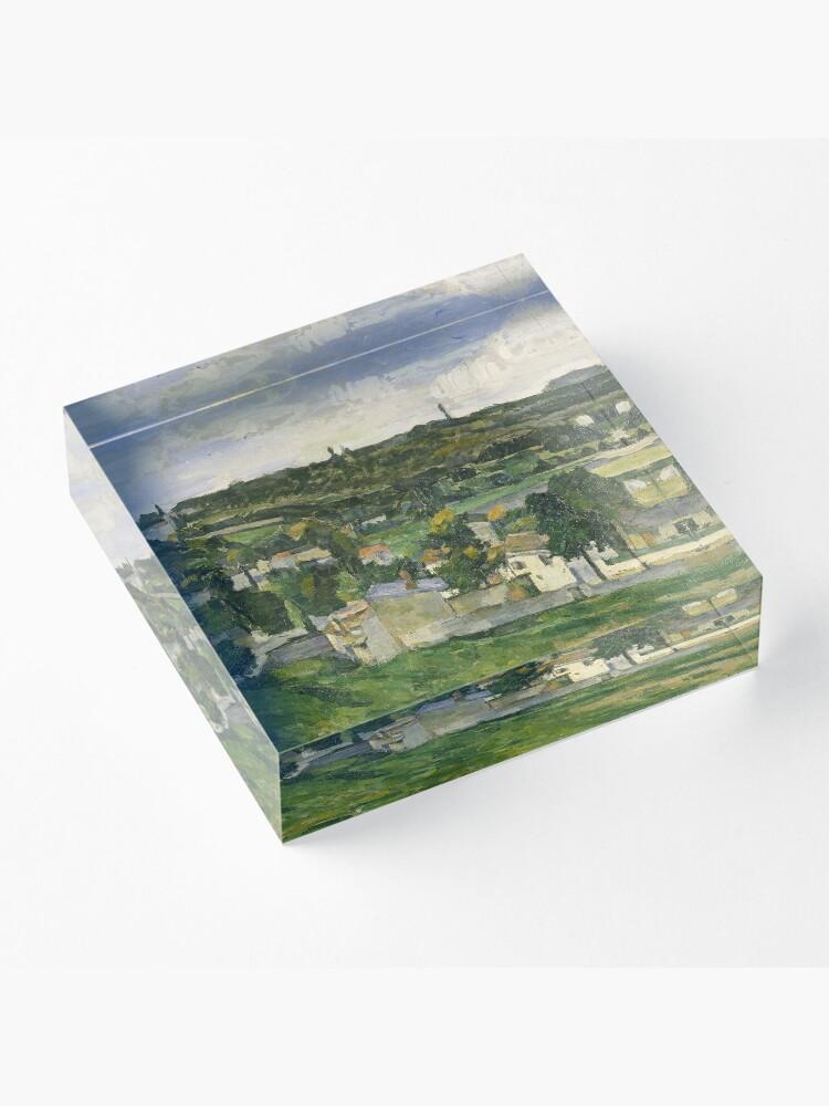 Alternate view of Stolen Art - View of Auvers-sur-Oise by Paul Cezanne Acrylic Block