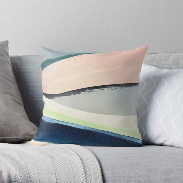 Pastel Abstact Painting Throw Pillow