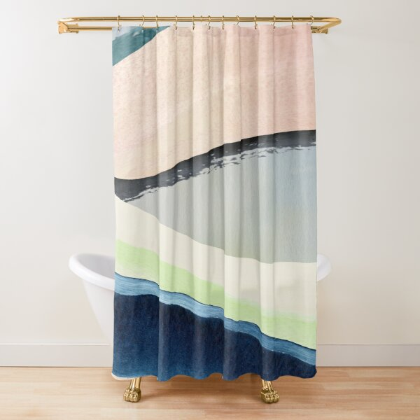 Pastel Abstact Painting Shower Curtain