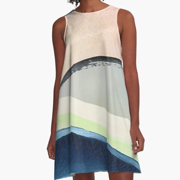 Pastel Abstact Painting A-Line Dress